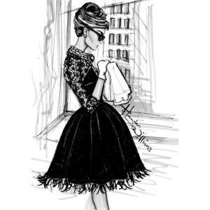 I Love Fashion Sketches / #Hayden Williams Fashion Illustrations #Breakfast at Tiffany's by Hayden ...