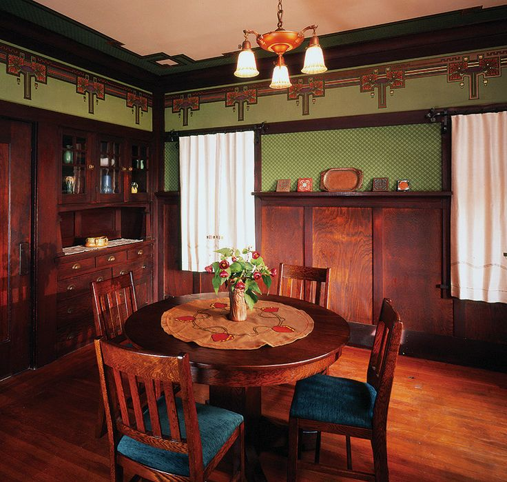 Arts And Crafts Bungalow Interiors Arts Crafts Dining