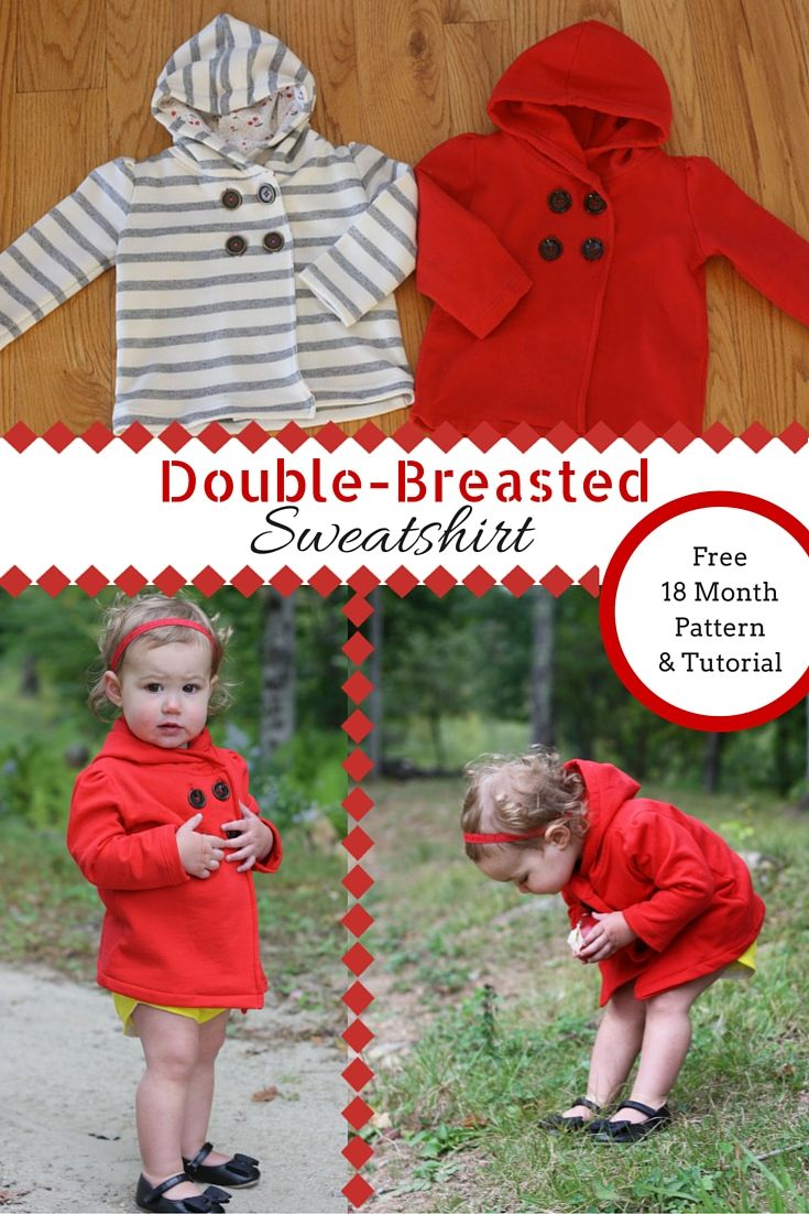 363 best crochet sewing images on pinterest sewing lessons double breasted hooded sweatshirt toddler sewing patternssewing for kidsfree sewingbaby jeuxipadfo Image collections