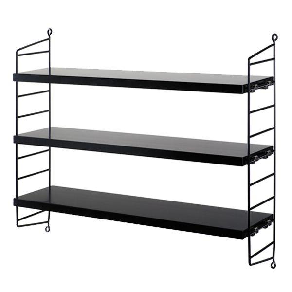 String Pocket shelf, black
