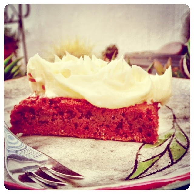 Frikkie Awesome: Red Velvet Brownies with White Chocolate Buttercream Frosting