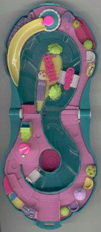 1995  Polly Pocket Splash 'n Slide Water Park  Mattel Toys #14520    Bluebird Toys Ref. No. xxxxxx Polly's Waterworld