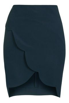Wrapped Scallop Skirt from Topshop R640,00
