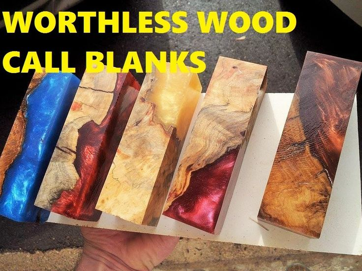 In this video i show you how i cast worthless burl cap wood into awesome call blanks using alumilite...