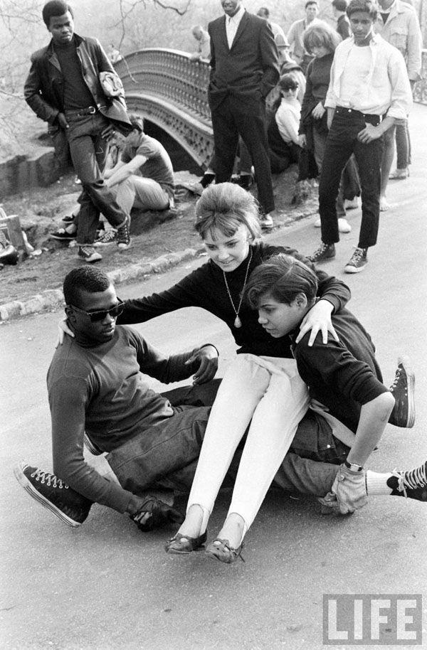 Skateboarders in Central Park 1960's