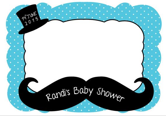 Little man Photo Frame - Photo booth prop - Baby shower - printable frame - for babies - boys - Mustache