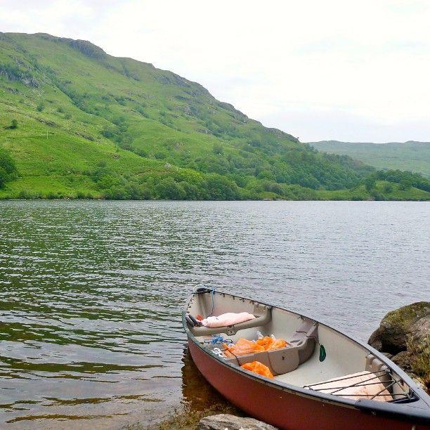 Canoeing on Loch Katrine, Scotland