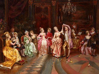 Elegantes fiestas, finas ropas, bailes elegantes de la nobleza francesa. www.oilpainting.com.ar consultaweb@oilpainting.com.ar