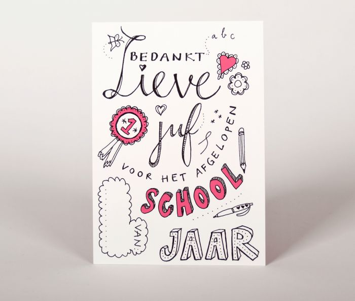 vrolijkfabriek.nl | Bedankt Juf // Leuk om te geven aan het eind van het schooljaar