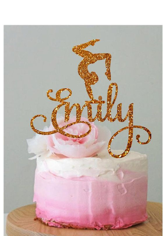Personalised Gymnastics Cake Topper Gymnast by HappyPartyDecor