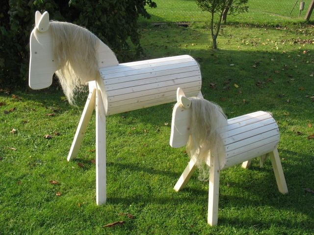 Voltigierpferd Holz Bauanleitung ~ Holzpferd  Hü , NEU und stabil! von Vida Natura auf DaWanda com