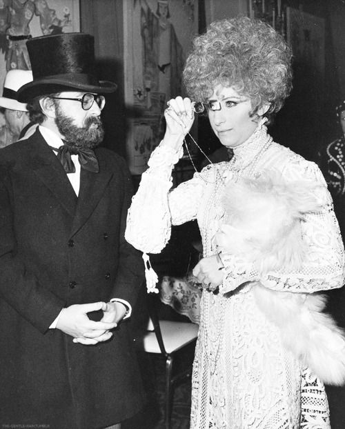 ": ""  Barbra Streisand (as Collette) and manager Marty Erlichman at the Reincarnation Ball in 1969. """