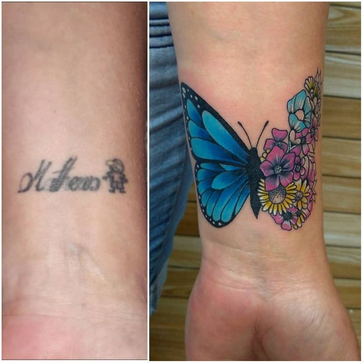 25 Ingenious Tattoo Coverup Ideas That Totally Revive Bad Ink in 2021 | Cover up tattoos, Cover up name tattoos, Wrist tattoo cover up