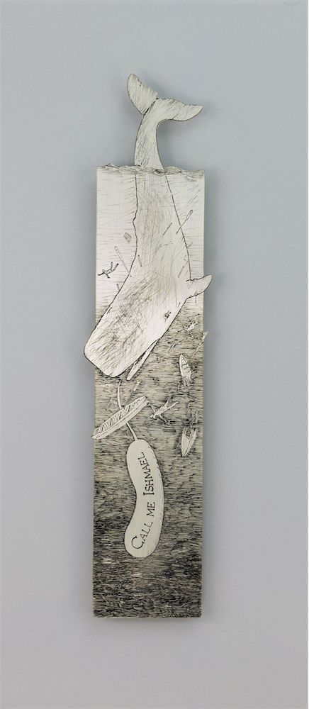 In the literary masterpiece by Herman Melville, Moby Dick – it's easy for anyone to identify with Achab, Ismael or the White Whale who represent different aspects of humanity. Melville's wise portrayal of people intrigued us enough to create a bookmark that is dedicated to this tale.