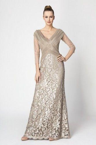 #tadashishoji #sequin #beige #dress #long #beauty #elegant #amazing #style