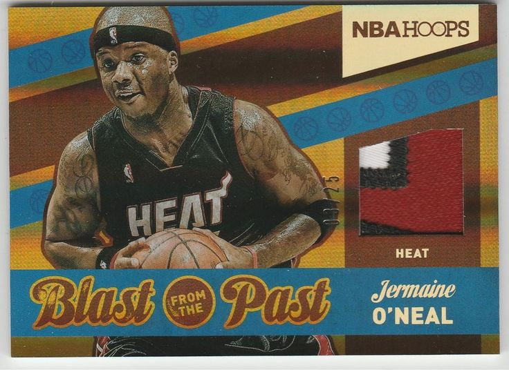 2014-15 Hoops Blast from the Past Prime 03/25 Jermaine O'Neal #7 Miami Heat #Hoops #MiamiHeat