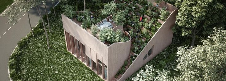 penda plans 'yin & yang house' for a family that wants to live off-grid
