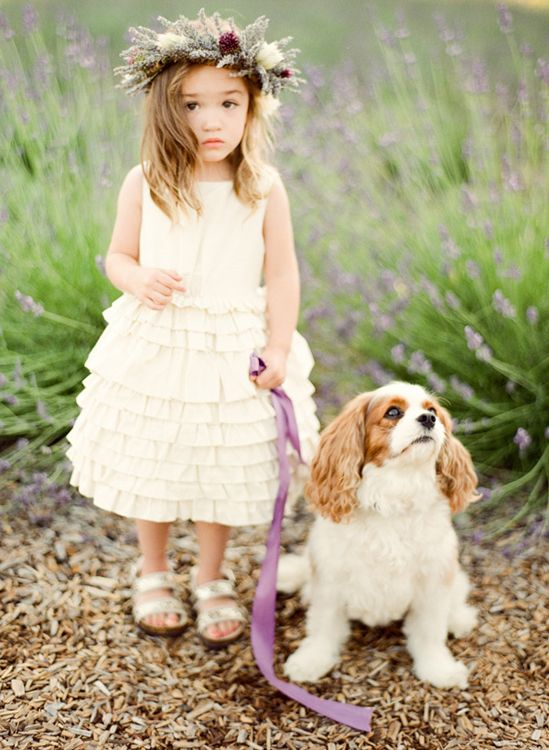 adorable flower girl + adorable pup