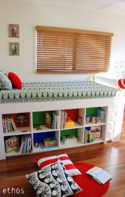 cool bed with storage and secret hideaway