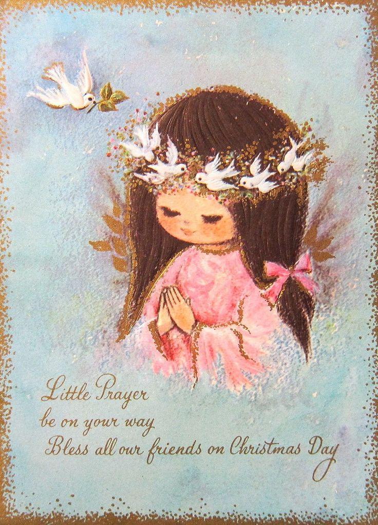 Vintage Christmas Angel Vintage Cards Pinterest