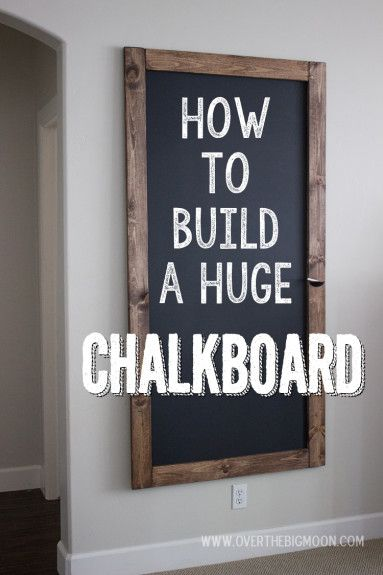How to Build a HUGE Chalkboard for Cheap reclaimed wood frame