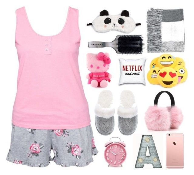 """Good Night"" by swimgirl0201 ❤ liked on Polyvore featuring Hunkemöller, P.J. Salvage, Topshop, Hello Kitty, Cricket, Victoria's Secret, Crystal Art, women's clothing, women's fashion and women"
