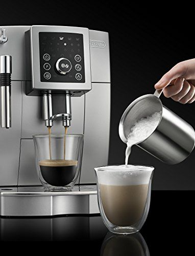 Be your own barista with the Magnificent S by De'Longhi. This compact automatic espresso machine includes all of the features of our full-size machines, but in a smaller, more convenient size. You and your guests can enjoy delicious cappuccinos and lattes anytime. It's never been easier to create authentic Italian drinks with our patented