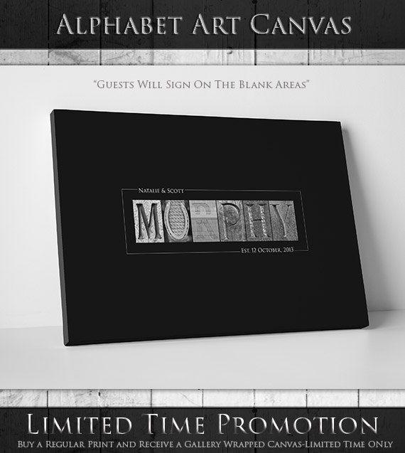 Custom Wedding Guest Book // Alternative Wedding by alphabetcanvas