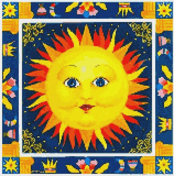 Regal Sun Cross Stitch APP