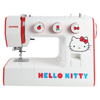 {Hello Kitty sewing machine} this makes my inner child smile :)