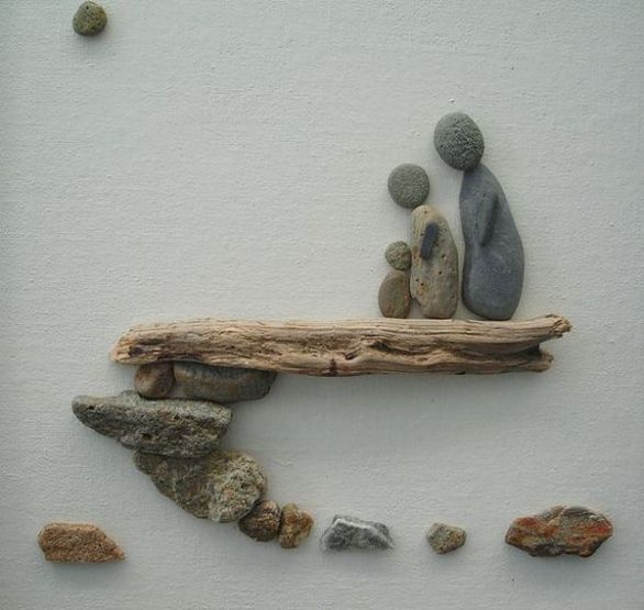 25 best ideas about rock decor on pinterest cactus for River rock craft ideas