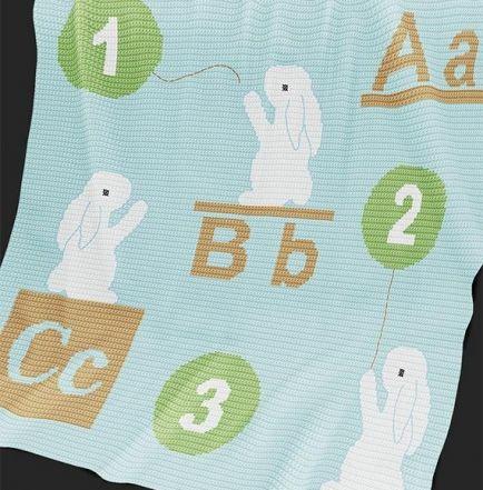Crochet Pattern   Baby Blanket / Afghan - ABC