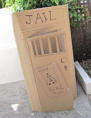 wild west jail out of fridge box {cowboy party}
