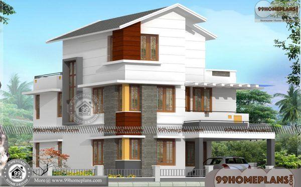 Three Floor House Design India 90 Contemporary