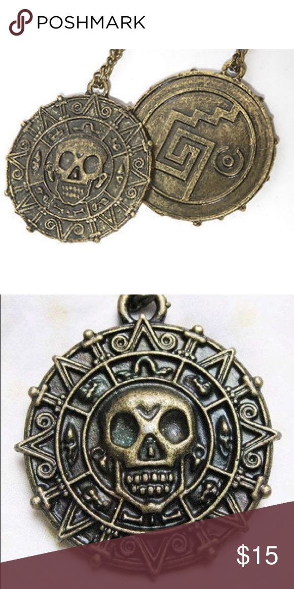 Pirates of the Caribbean Aztec coin necklace From Pirates of the Caribbean: Black Pearl movie Disney Jewelry Necklaces