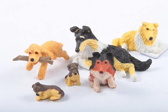 Puppy In My Pocket Vintage Hasbro Toys Small Plastic Dogs Collie Family Shetland Shepherd Cocker Spaniel   The Pink Room  170220 by ThePinkRoom