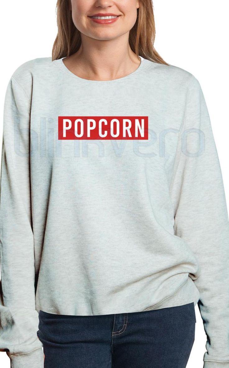 popcorn shirt girls and mens sweatshirt unisex