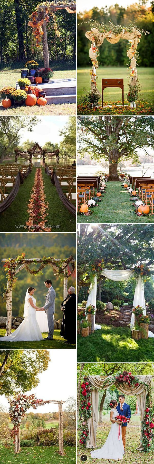 gorgeous fall wedding ceremony and arches ideas