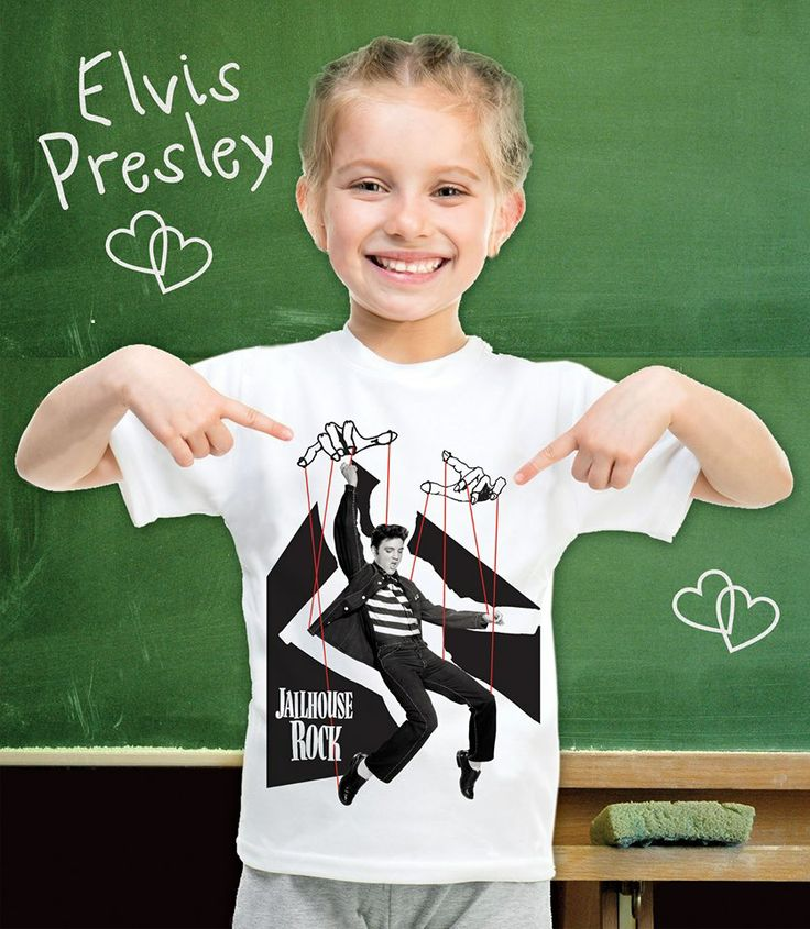 "Little kids love to rock their style! And love Elvis!  Order the Elvis Prisley ""artified"" t-shirt for kids in a variety of colors at artifiedstore.com e-shop! Available sizes for 3-12 years old! http://www.artifiedstore.com/en/kids/79-k01-elvis-t-shirt.html"