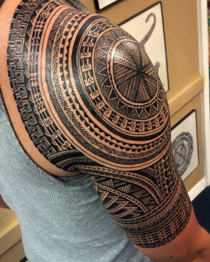 Colombian Tribal Tattoo : colombian, tribal, tattoo, Columbian, Inspired, Tattoo, Michael, Fatutoa, Tribal, Tattoos, Sleeve, Tattoos,, Shoulder