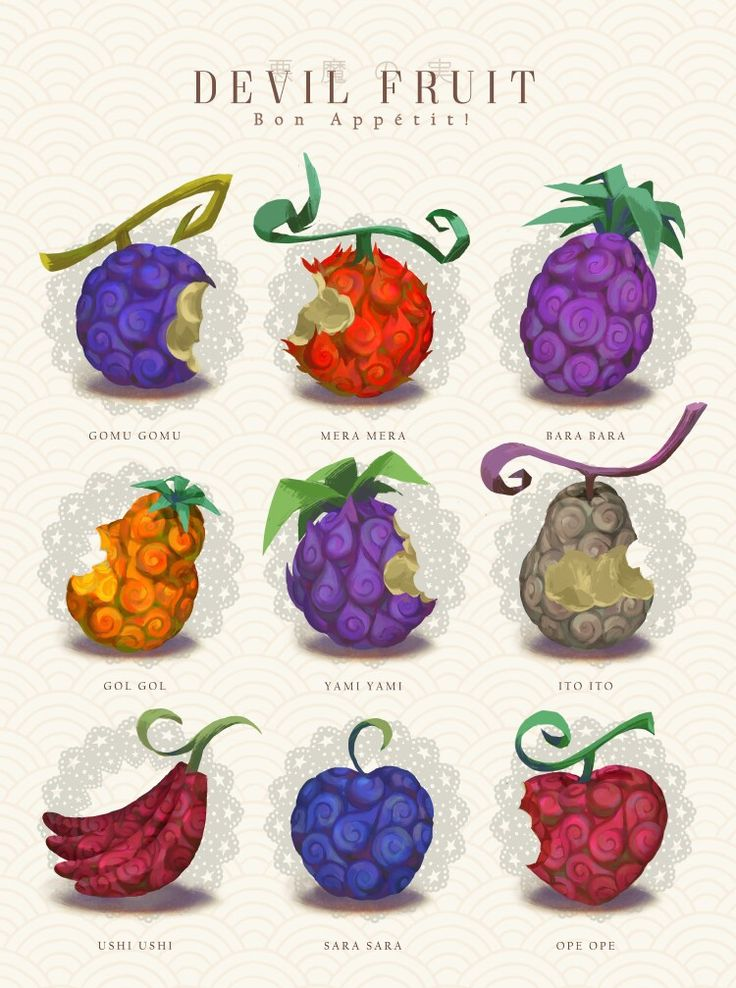One piece devil fruits