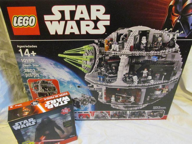 lego star wars death star 10188 new sealed retired with free 3 d puzzle lego lego star. Black Bedroom Furniture Sets. Home Design Ideas