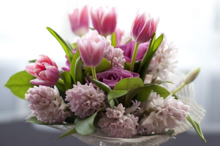 Открытки с днем рождения весенние цветы сделать фото
