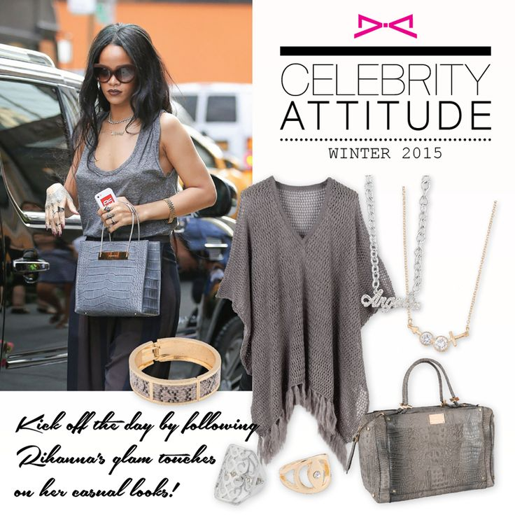Get Rihanna's attitude simply by adding impressive details to your casuals!  #achilleas_accessories #celebrities #rihanna