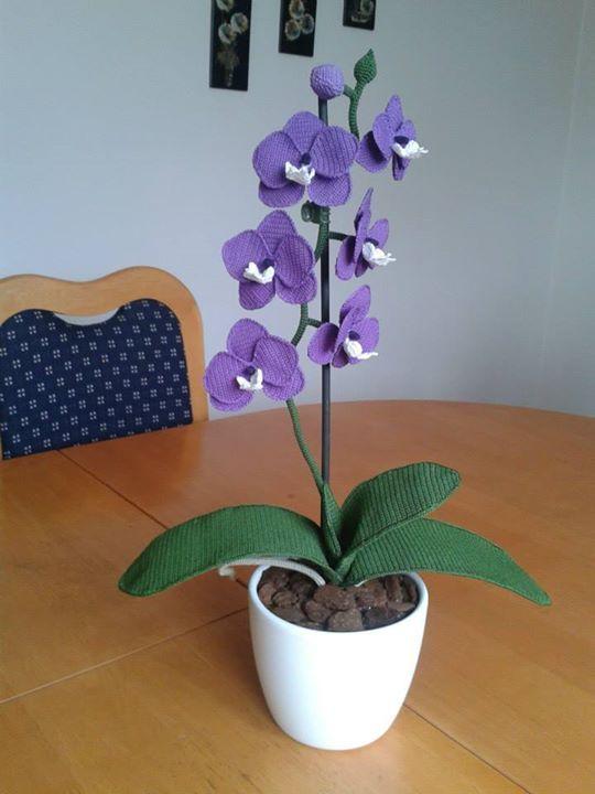 Crochet orchids - Handmade