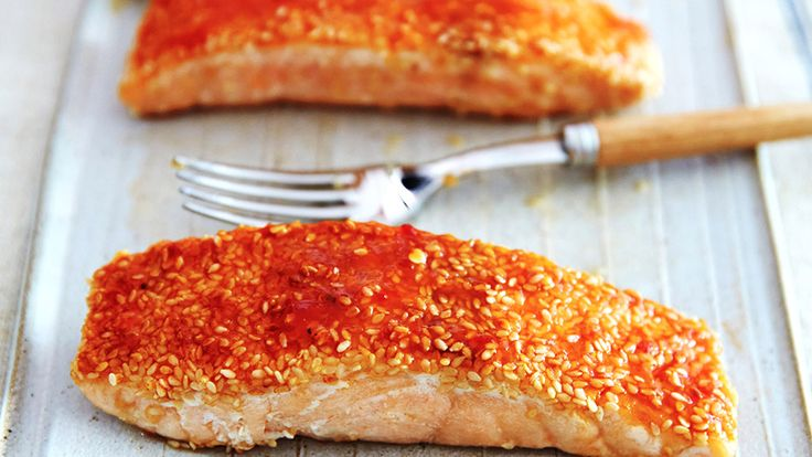 This recipe is a riff on a dish that we order at our favorite Chinese restaurant. The sesame seeds coat the surface of the fish, adding a nice nutty crunch. Use the 4 tablespoons of sugar if you prefer your sauce on the sweeter side.
