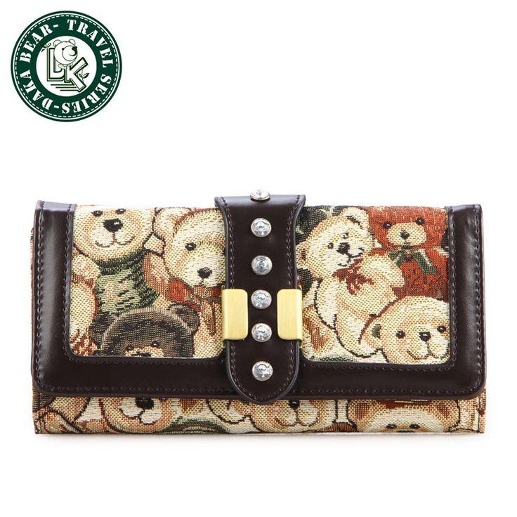 DAKA BEAR Women Wallets Ladies Purse Long Design Brand Wallet Change Purses Trave Folding Ladies Wallets Clutch Purses