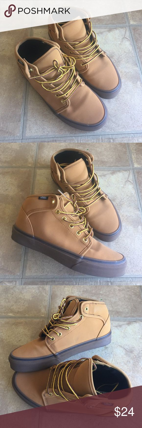 Vans classic brown Leather Bedford Very good condition. Barely wore. Vans Shoes Sneakers
