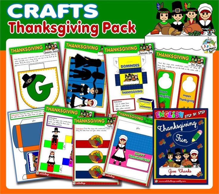 #THANKSGIVING FUN PACK - AVAILABLE HERE: http://teachenglishstepbystep.weebly.com/thanksgiving-fun.html