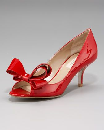 Couture Bow Pump by Valentino at Neiman Marcus.